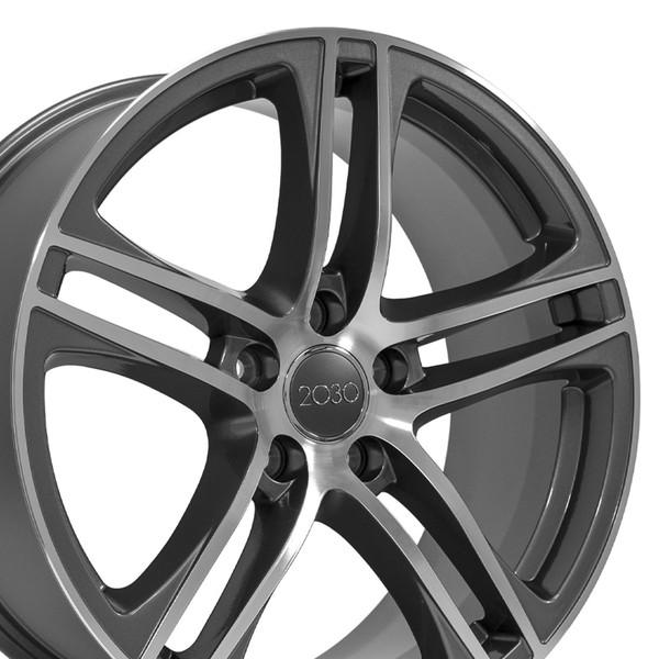 Audi R8 Style Replica Wheels Gunmetal 18x8 SET