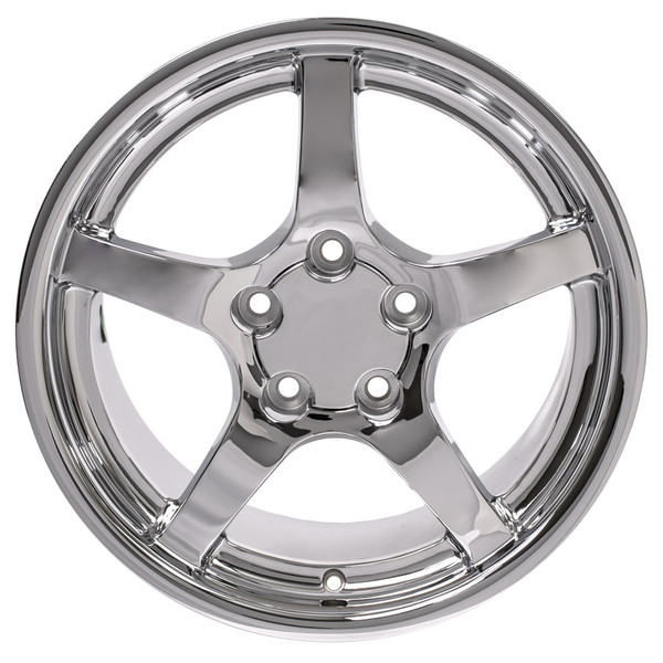 "17"" Chrome 5 spoke wheels"