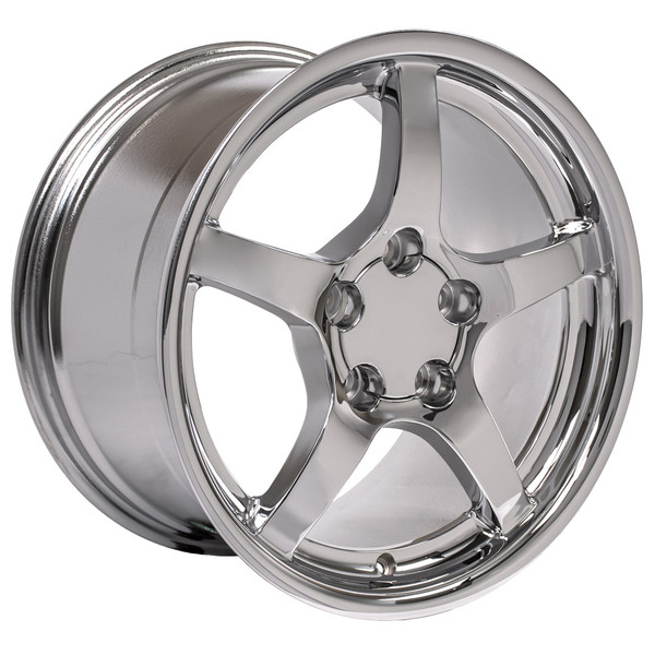 17x9.5 chrome c5 wheels