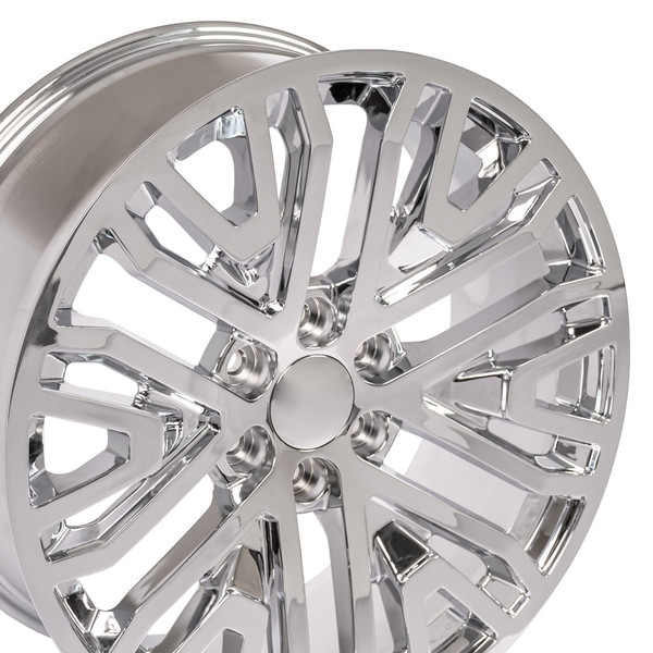 Wheel and tire set for GMC Sierra