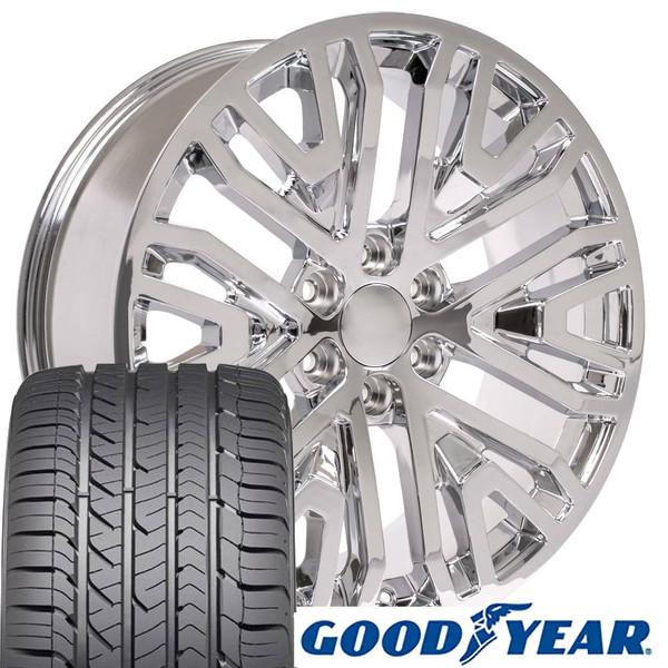 Wheel and tire set 2019 Silverado