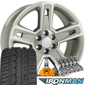 Wheels Tires Lugs and TPMS for Chevy Tahoe Hollander 5664 SET
