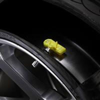 TPMS sensor cutaway view inside tire