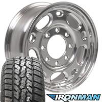 "17"" 8 lug silverado wheel and tire set"