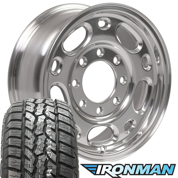 "17"" 8 lug silverado wheel and tire set"