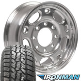 "17"" 8 lug silverado wheel and tire set polished aluminum"