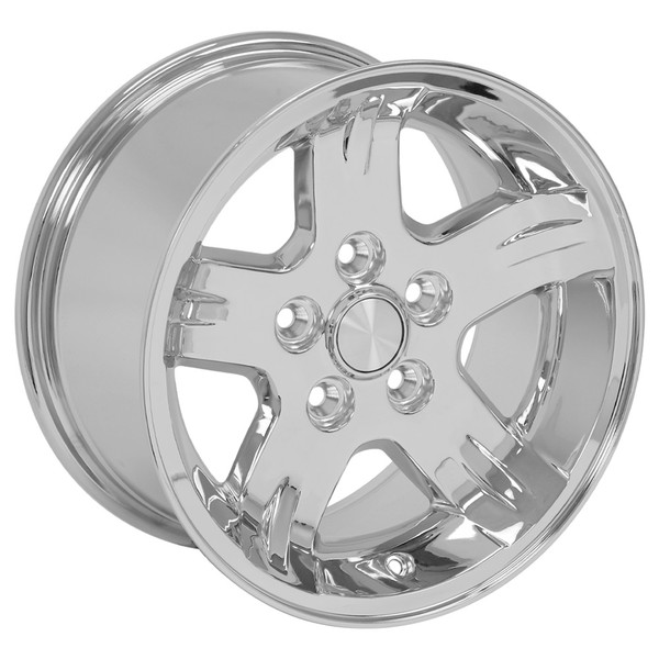 Set Chrome rims for Jeep Wrangler
