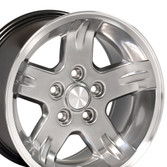 Set of 15x8 Hyper Black rims for YJ