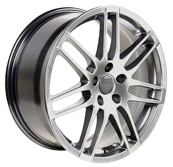 RS4 style rim hyper silver fits audi a4