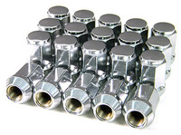 Chrome lugnuts for cars