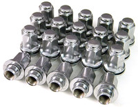 Set of 20 Chrome Shank Lugs