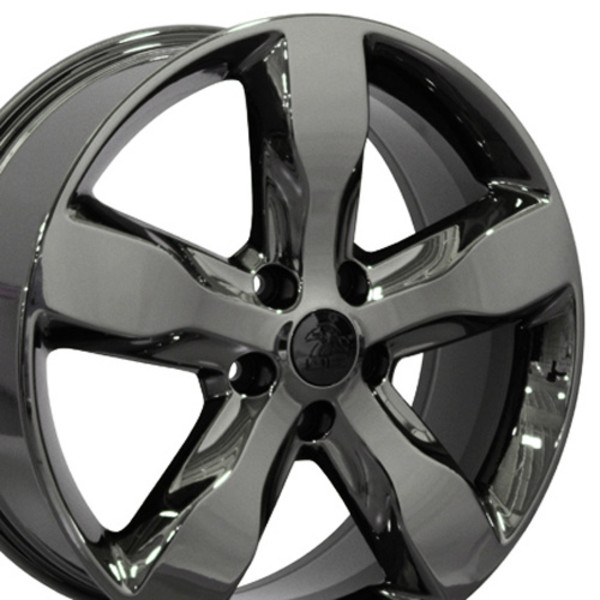 jeep grand cherokee oem wheels black chrome 20x8 set. Black Bedroom Furniture Sets. Home Design Ideas