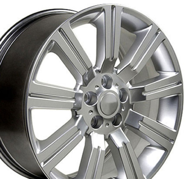 Land Rover Stormer Style Replica Wheels Hyper Silver 22x10 SET