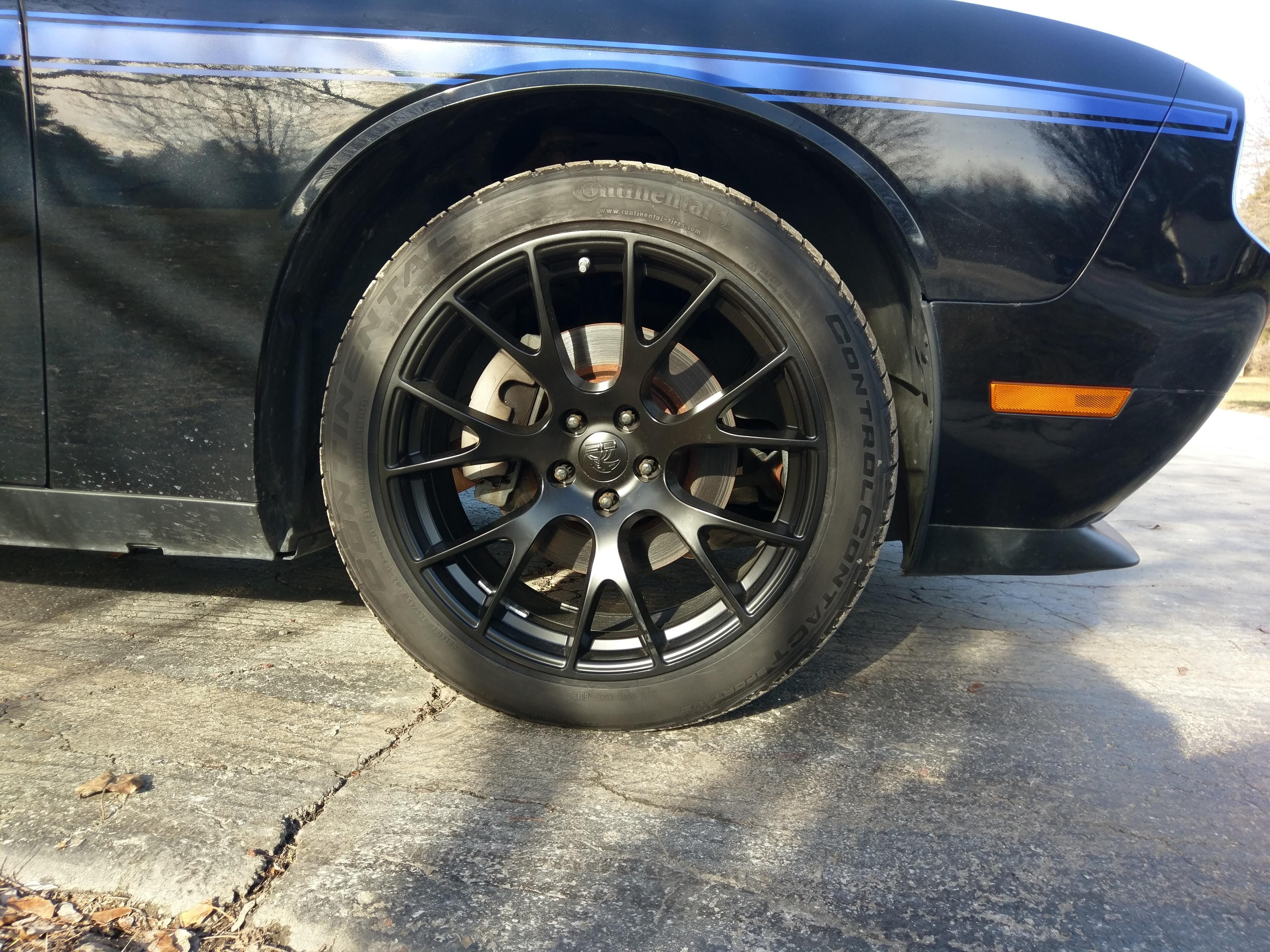 Dg15 20 Inch Satin Black Rim Set Fits Dodge Charger Challenger