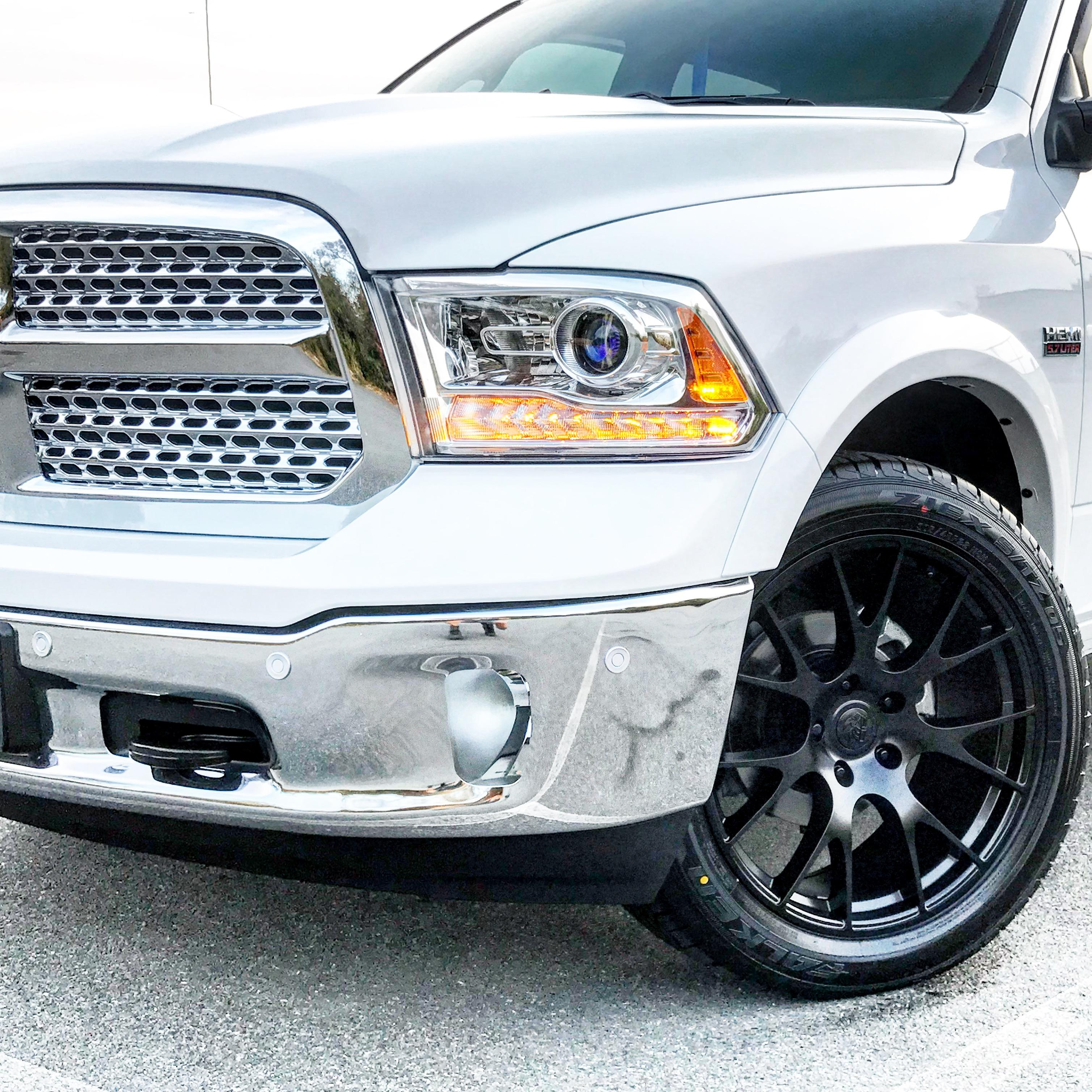 Dodge Ram With 22 Inch Rims >> DG69 22 inch satin black rims fits Ram 1500 (Hellcat style)