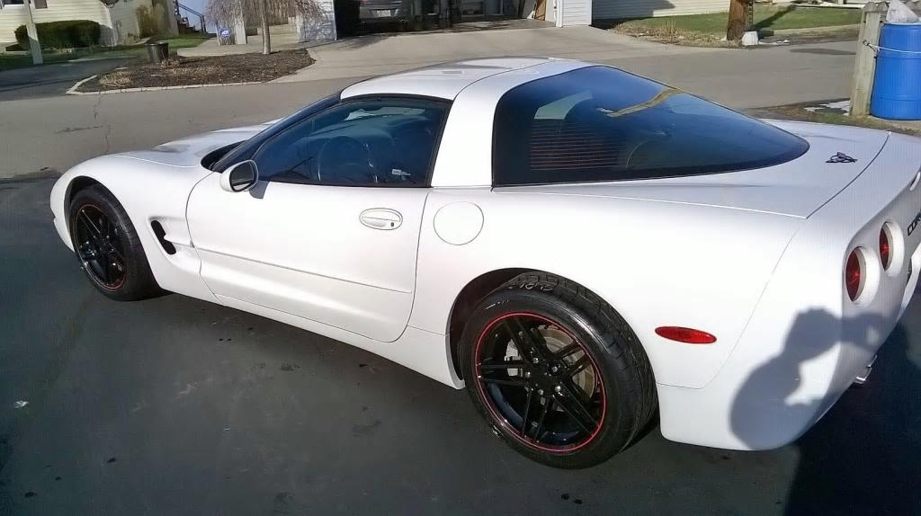 Cv07 17 Inch Black Wheels With Red Stripe For Chevrolet