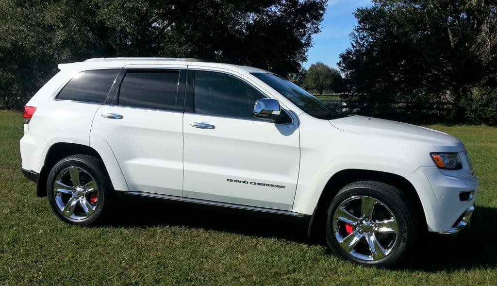 2015 Jeep Grand Cherokee >> Jeep Grand Cherokee SRT Style Replica Wheels Chrome 20x9 SET