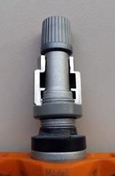 This is a cutaway view of a TPMS sensor valve