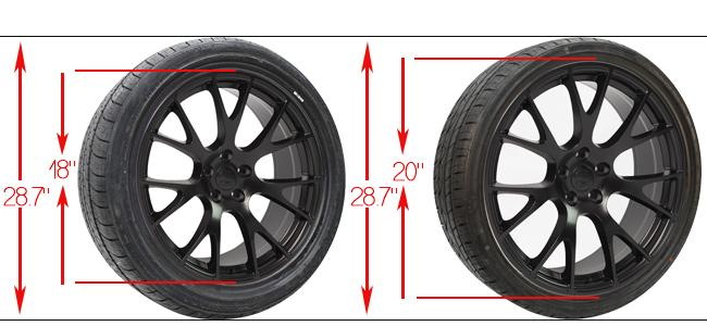 plus sizing wheels - plus sizing tires