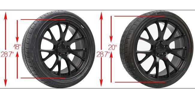 plus sizing wheels - plus sizing tires