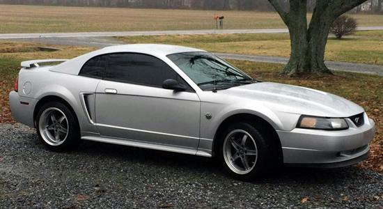 Silver Mustang with FR06 Saleen style replica wheels from OE Wheels