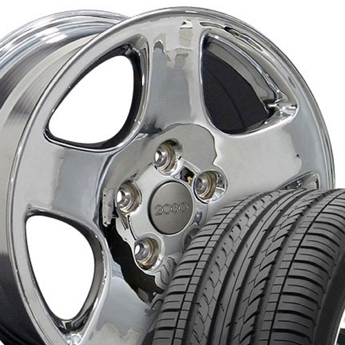"""16"""" Chrome A4 Style Wheels With 215-55-16 Tires"""