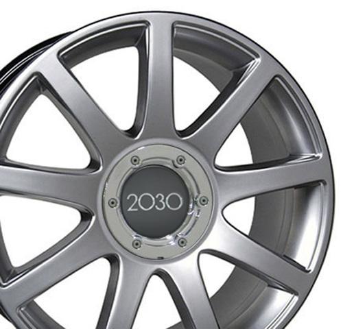 Audi Sedan Wheels on 18  Hyper Silver Rs4 Style Wheels 18x8 Set Of 4 Rim Fit Audi A4 A6 A8