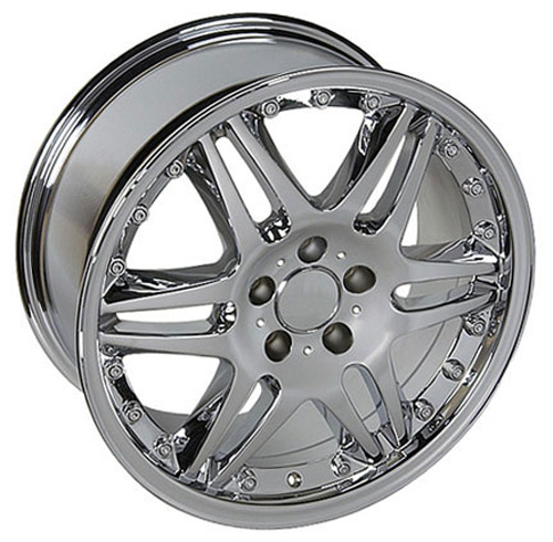 Mercedes benz style replica wheel chrome 18x8 5 set for Chrome rims for mercedes benz