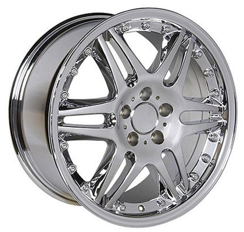 mercedes benz style replica wheel chrome 18x8 5 set On mercedes benz chrome rims