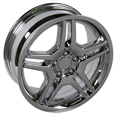 18 chrome amg style wheels set of 4 rims fit mercedes c e for Chrome rims for mercedes benz