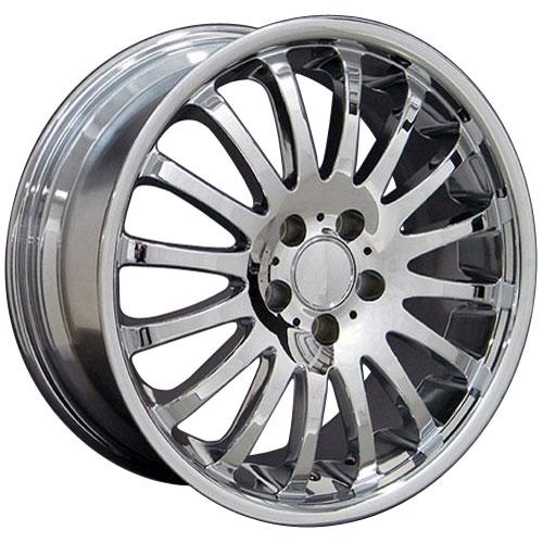 18 fits mercedes benz wheel chrome 18x8 rimguard xtreme for Mercedes benz chrome rims