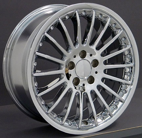 18 fits mercedes benz replica wheel chrome 18x8 for Mercedes benz chrome rims