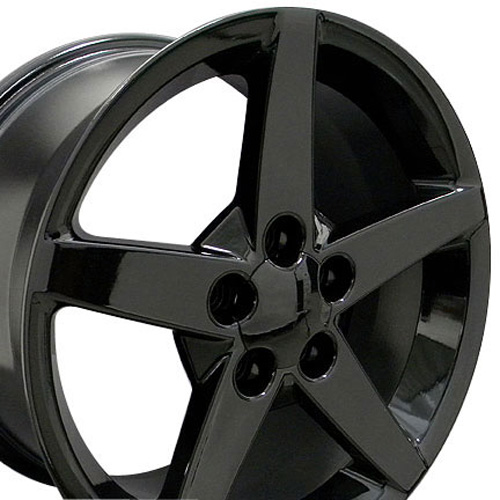Camaro Wheels on Wheels Black 18x10 5 17x9 5 Black Set Staggered Set Of Fits Corvette
