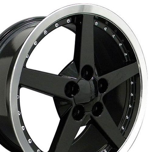 Camaro on 18  Fits Camaro Corvette C6 Deep Dish Wheel Black   18x8 5