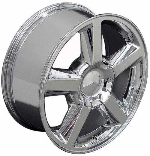 Chrome Wheels Tires on 20  Chrome Tahoe Suburban Wheels Tires Fits Chevrolet Gmc Cadillac