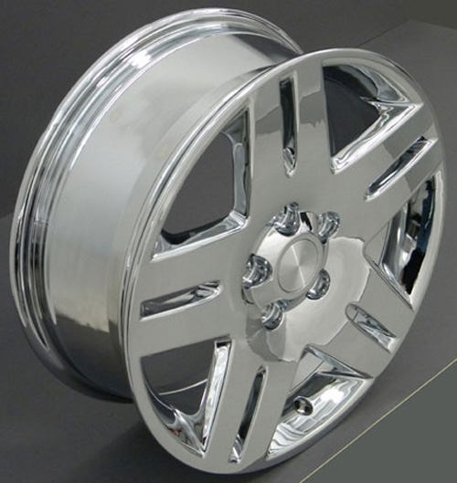 17 impala wheel chrome 17x6 5 rims fit chevy ebay. Black Bedroom Furniture Sets. Home Design Ideas