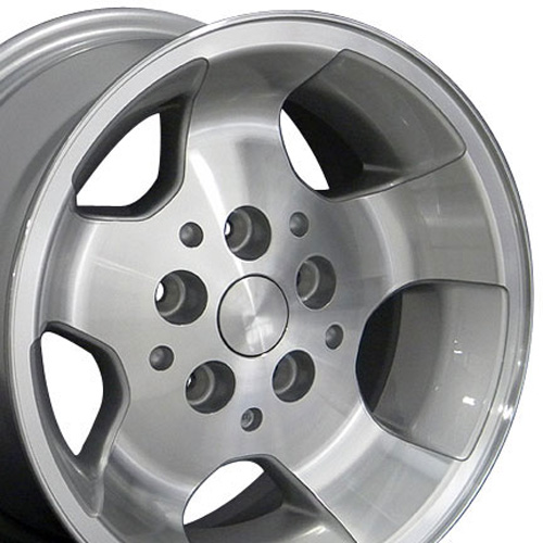 15 inch Rim Fits Jeep Wrangler Style JP08 15x8 Silver Machined Wheel