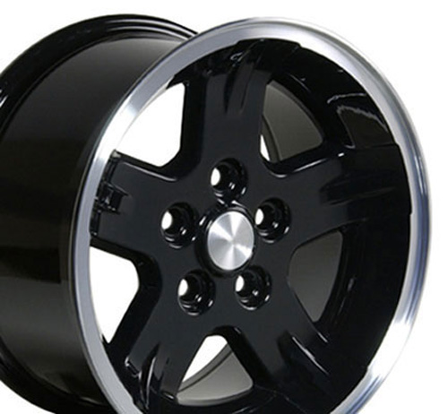 Image of 15 inch Rim Fits Jeep Wrangler Style JP03 15x8 Gloss Black Wheel