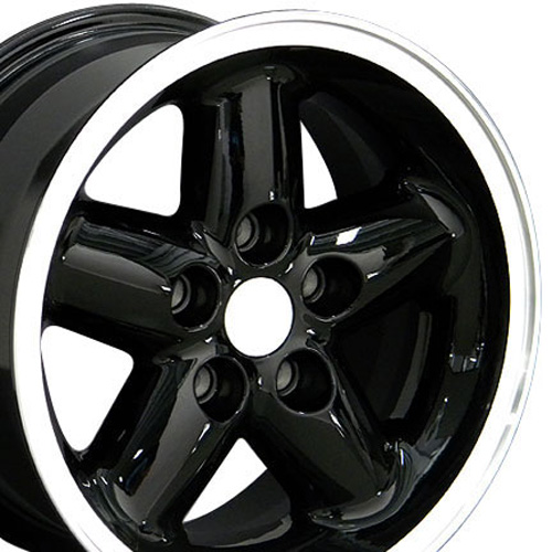 Image of 15 inch Rim Fits Jeep Wrangler Style JP07 15x8 Gloss Black Wheel
