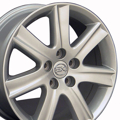 17 x7 silver es 350 style wheels fit is ls gs lexus ebay. Black Bedroom Furniture Sets. Home Design Ideas