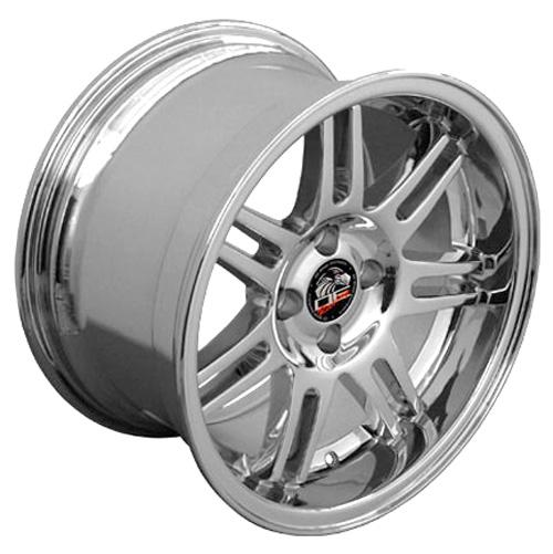 "What Size Rims Will Fit A 2013 Mustang V6 >> 17"" Chrome 10th Anniversary 4 Lug Wheel 17x10 Rim Fits 79-03 Mustang® GT V8 V6   eBay"