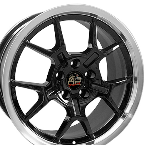 Wheels on 18 Fits Mustang Gt4 Wheel Black 18x9 Upc 8182047