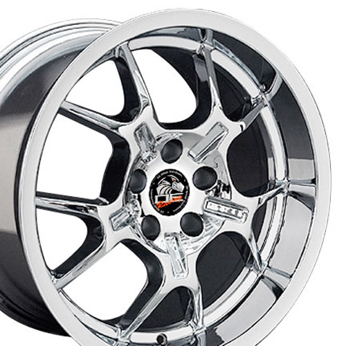 Wheels on 18  Fits Mustang   Gt4 Wheels Chrome 18x10   18x9 Set
