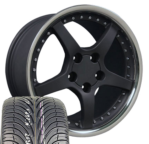 Rims on 17  Black Wheels Fit Corvette C5 C4 Zr1 275 Nexen Tires   Ebay