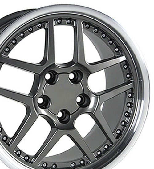 Wheels on 17  Rims Fit Camaro Corvette Z06 Style Wheels Set   Ebay