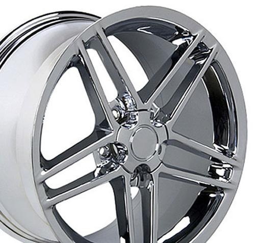 Details about 18x9 5 19x10 Chrome Corvette C6 Z06 Style Wheels Set of 4  Rims Fit Corvette OEW