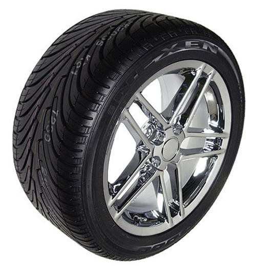 Chrome Wheels Tires on 17x9 5 Chrome C6 Z06 Style Wheels Rims Tires Fits Camaro   Ebay