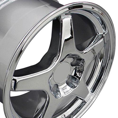 17x9 5 Rims Fit Corvette Camaro Zr1 Style Chrome Wheels